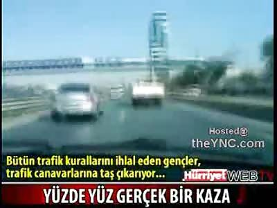 Kids in Turkey Having Fun Tragically Film Their own High Speed Fatal Crash