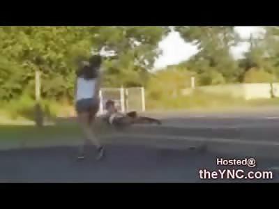 Female Skateboarder gets her Own Sakteboard Shoved up her Ass