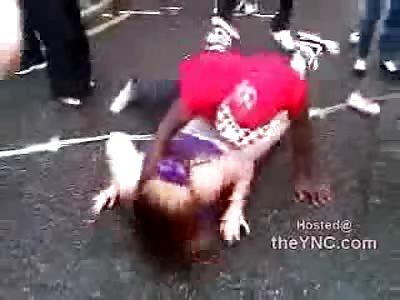 SICK AS FUCK: Nasty Disgusting Rolley Polley Fat Black Dick Loving Slut Dancing
