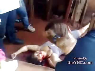 We're First on Scene: Female Stabbed to Death by Boyfriend lies Dead in Broad Daylight