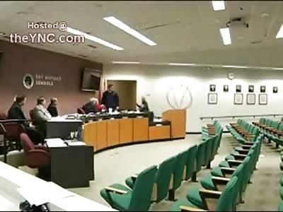 TERROR: Suicidal Man Takes School Board Hostage Later Kills Himself (Full Video)