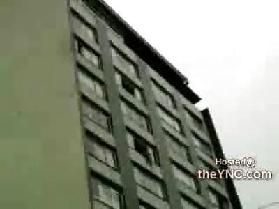 Spider Man? Man makes Amazing Zip Line Resuce of Suicidal Female