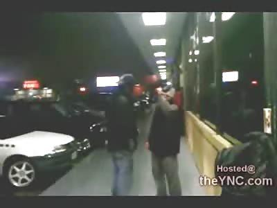 Big Black Bum Beats on and Humiliates Drunk White Bum