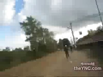 Russian Skinheads Attack Asian Man until he Runs Away down a Train Station