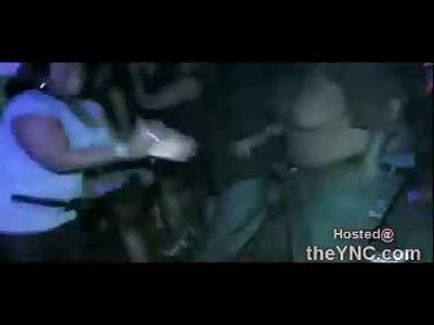 Good God: Man Boobed Fat Black Dude Dance Topless at a Club...LOLOLOL