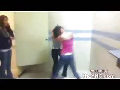 Teens Battle it out in School Bathroom