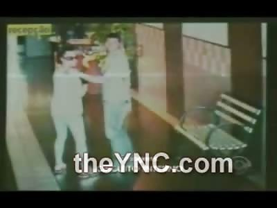 Brazilian Maniac Strangles Woman with a Belt in the Elevator