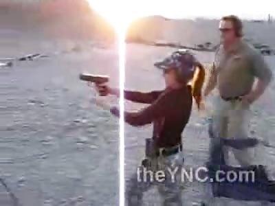 11 Year Old Girl Shoots Semi Automatic Pistol Like a Boss