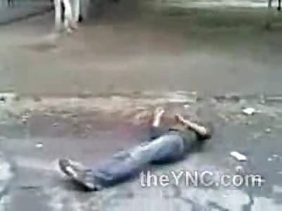 Unsuspecting Sucker Punch Nearly Kills this Poor Kid..... DAMN!