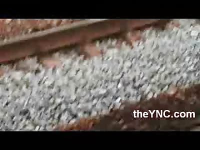 Short Video of Man Headless by train