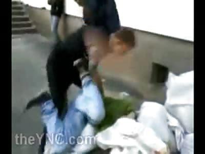 Drunk Russian Kid is Ruthlessly Beaten