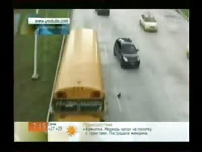 WOW: Bird Plays Chicken with 20 Speeding Cars on Busy Highway......DAMN