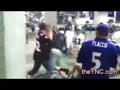 Ravens vs. Chief Fans Fight at Stadium