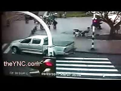 Reverse Bizarre Car Accident