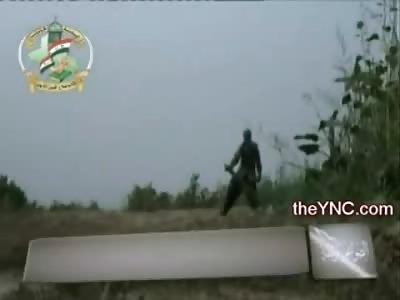 Mortar Prematurely Explodes, Vaporizing Insurgent