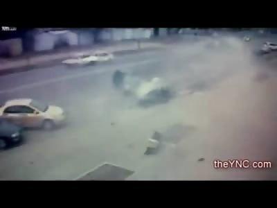 Fatal Crash Disintegrates Car on Impact into Street Sign