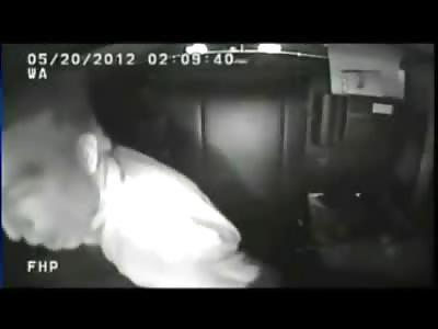 Insane Doctor in Florida Goes Berserk inside Police Car