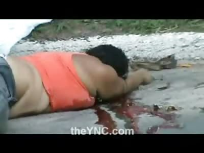 Obese Orca Woman is Dead Bleeding on Street