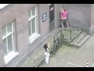 Party Slut high on Molly Fucks Random Guy in Alley in Amsterdam