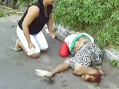Mother going Berserk over Mangled Sons Bod