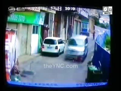 Brutal Footage of Woman in the Street Swallowed by a Speeding Minivan