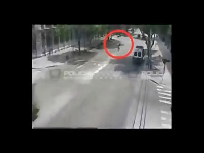 Bus Fatally Crush Man Walking on the Street