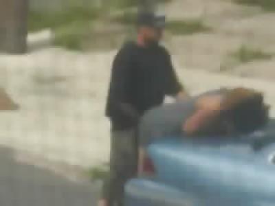 Guy Bangs Hooker in Broad Daylight on his Hood