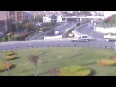 Bizarre Bus Accident Kills 2 When it Falls off of a Bridge (w/Aftermath)