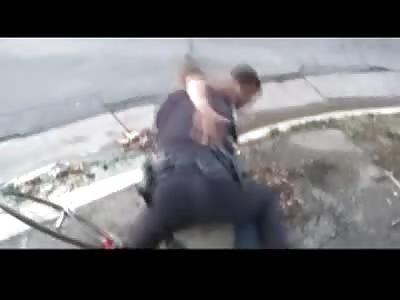 Police Officer Tackles Bike Thief Like an NFL Linebacker