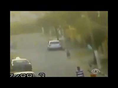 CCTV Capture 2 Men Firing into a Group in this Brazen Daylight Murder
