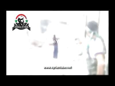 Terrorist Firing his RPG is Blown Back by the Blast Radius of Mortar Shell