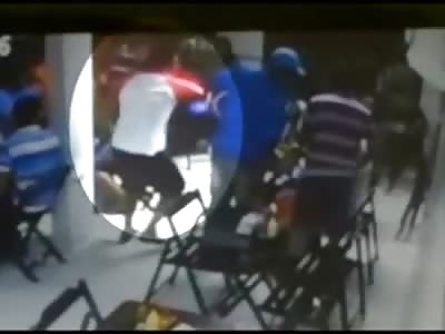 Brazen Homicide .. Man Blows Rivals Head off at Bar