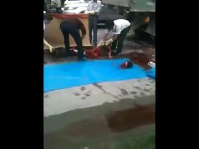 Biker Beheaded by Truck on the Road