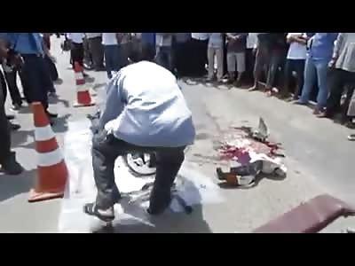 Sometimes Even Helmets Don't Help for Shit .. Riders Skull Crushed inside Helmet