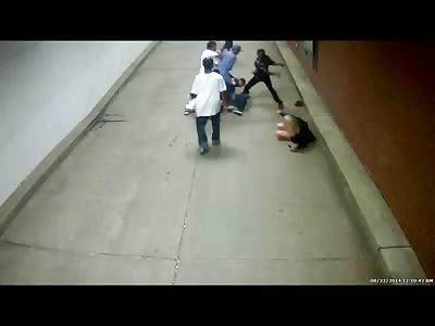 Black on White Hate Crime Caught on MO CCTV