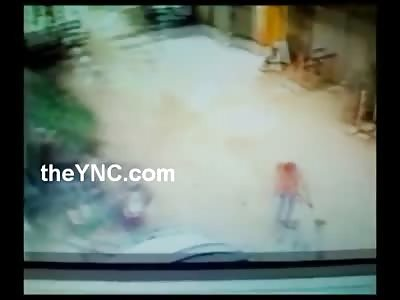 Orange Shirt Executioner ... Man Unloads on another Man Trying to Run Away