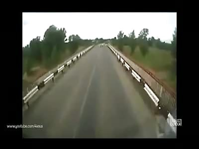 SHocking: Russian Truck crushes dozens of goats :)