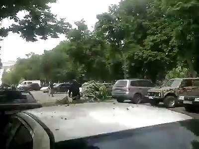 Lugansk Airstrike aftermath 1-6