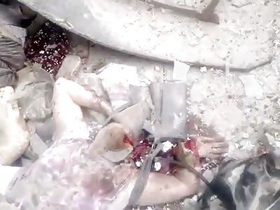 Lugansk Airstrike aftermath 4-6