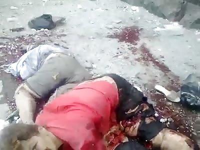 Lugansk Airstrike aftermath 3-6