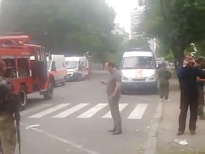 Lugansk Airstrike aftermath 6-6