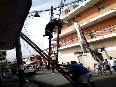Man electrocuted (Dominican Republic)