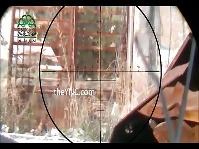 Ahrar Al-Sham Sniper Kills Assad Soldier with Perfect Headshot (Watch Slow Motion)