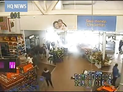Drunk Man Drives Thru Walmart in San Jose California