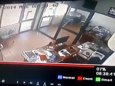 African Robber Shot Dead