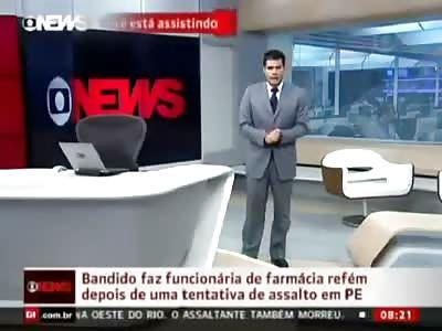 Brazilian police kills robber (headshot)