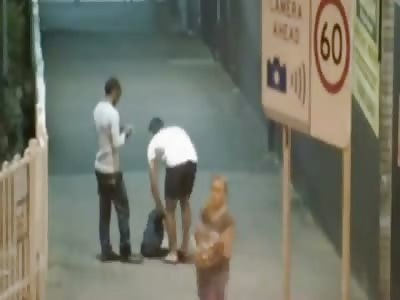 Thug Sucker Punches African Refugee