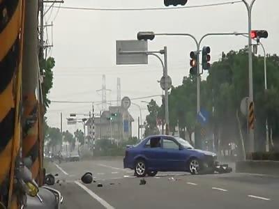 Freak Accident in Taipei
