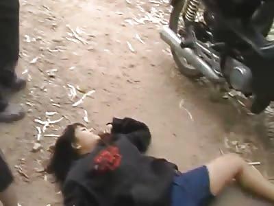 Female Drug Dealer Shot in Thailand!