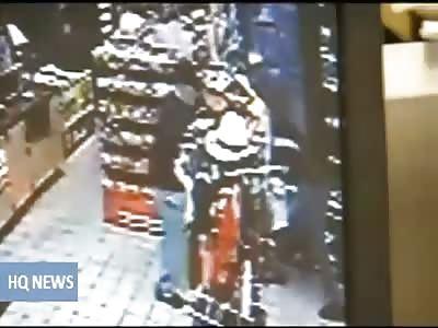 Man Fights Robber At Gun Point in Gas Station